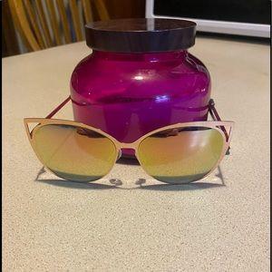 💯Cat eye mirrored sunglasses